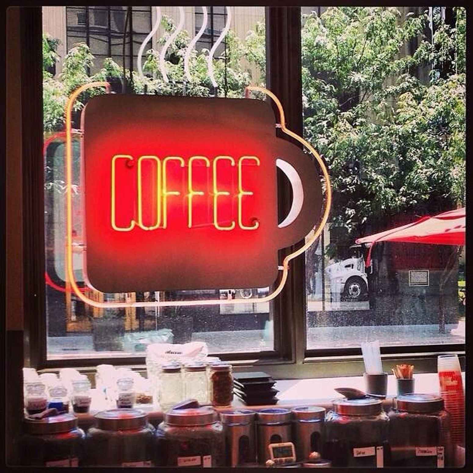 I took this picture inside the Joulé Hotel at there Weekend Café Coffee Shop. Coffee Weekend Cafe Photographer