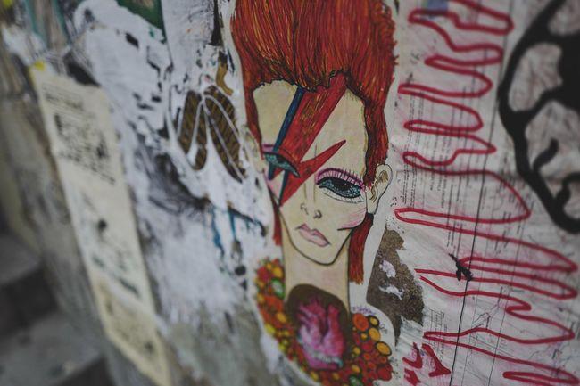 Street Art Graffiti Art Wall Art R.I.P. David Bowie