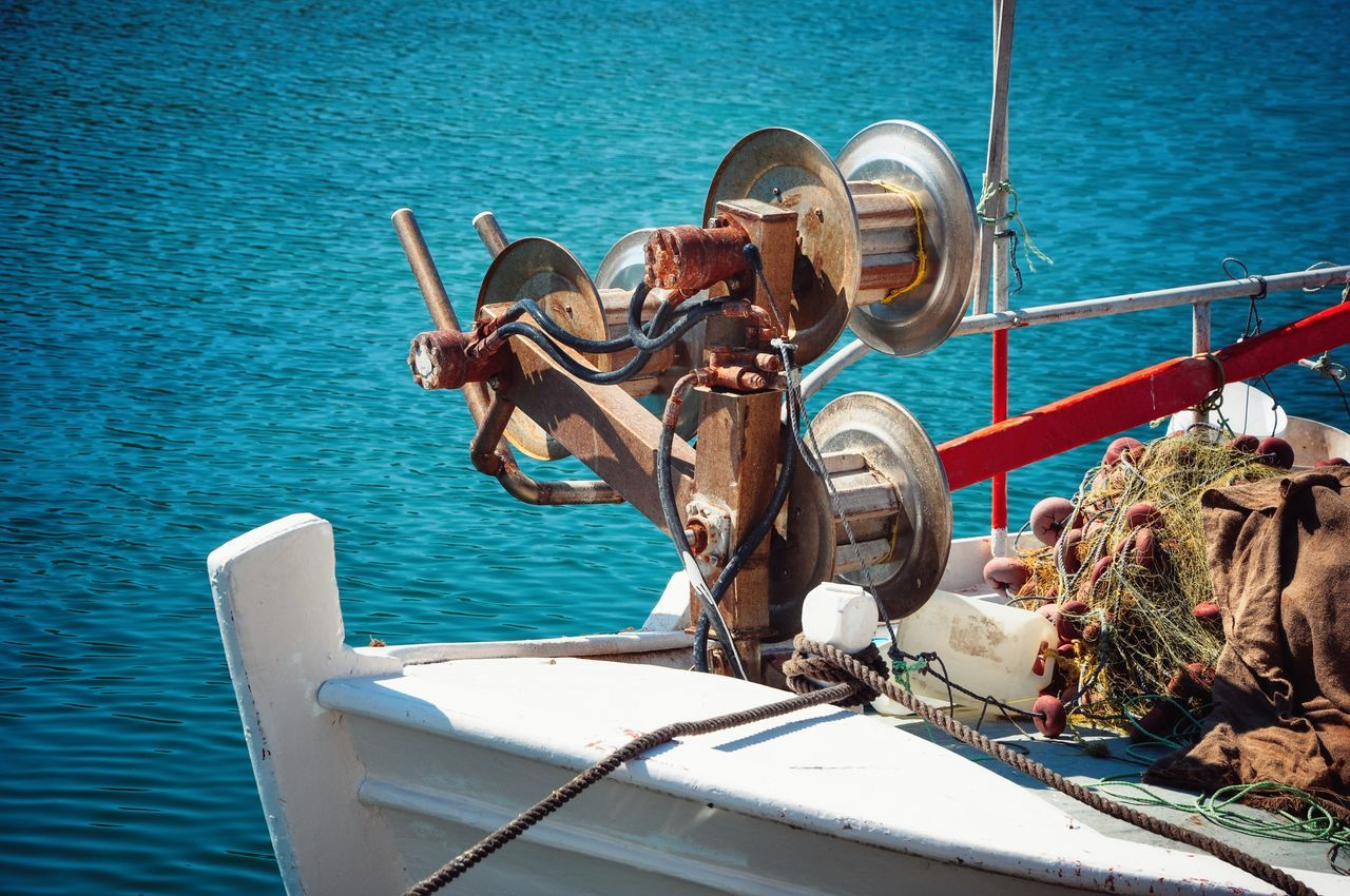 Fishing Boat Sea Life From My Point Of View Frame It! Cropped Fishing Nets Fishing Life Fishing Time Fishing Port Color Photography Sunny Day Summer Summer Views Summertime At The Port The Essence Of Summer - Greek Islands Chios Greece
