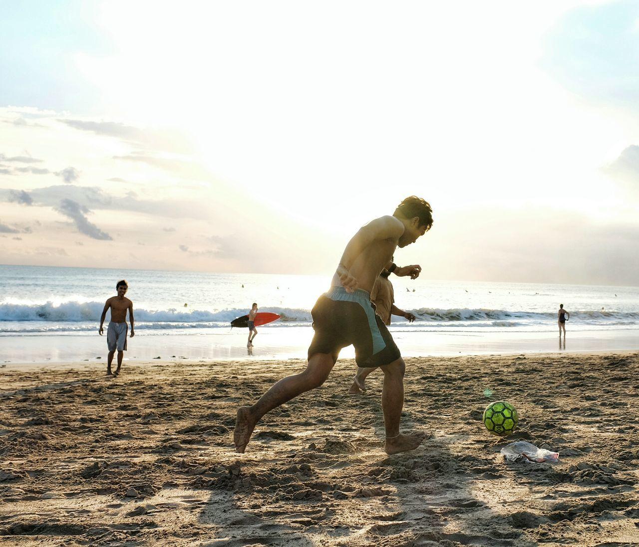 Beautiful stock photos of fußball,  Beach,  Beauty In Nature,  Horizon Over Water,  Horizontal Image