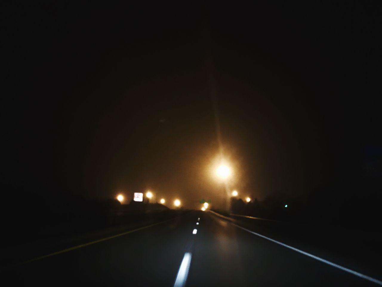 ✖️✖️✖️ Night The Way Forward Illuminated Transportation Outdoors