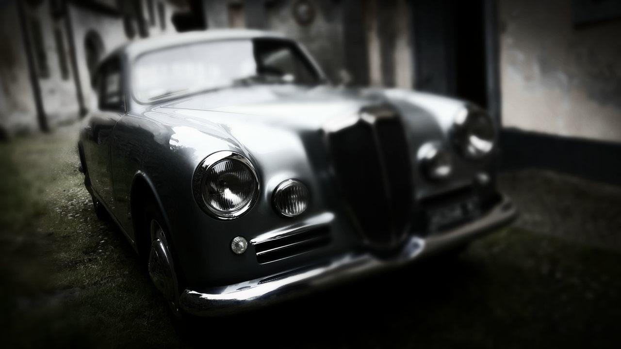 Car Headlight Retro Styled Old-fashioned Mode Of Transport Land Vehicle No People Close-up Day EyeEmNewHere Lancia Luxury Italian Style Black And White