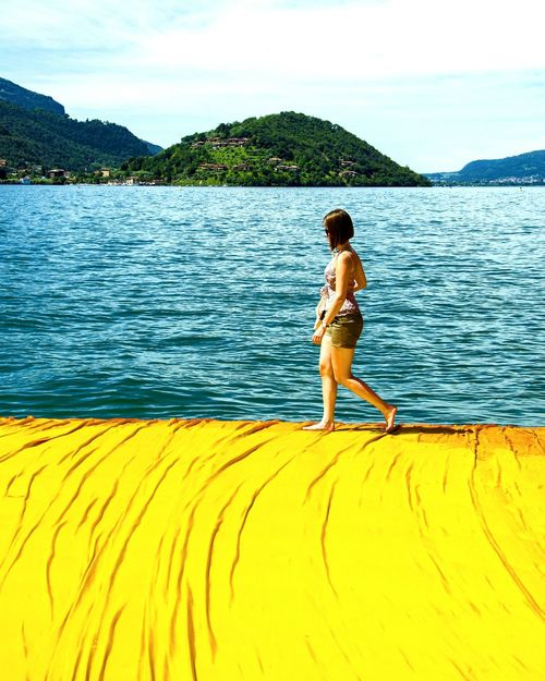 The Floating Piers The Floating Piers By Christo Italy Walk On Water ArtWork Art Installation