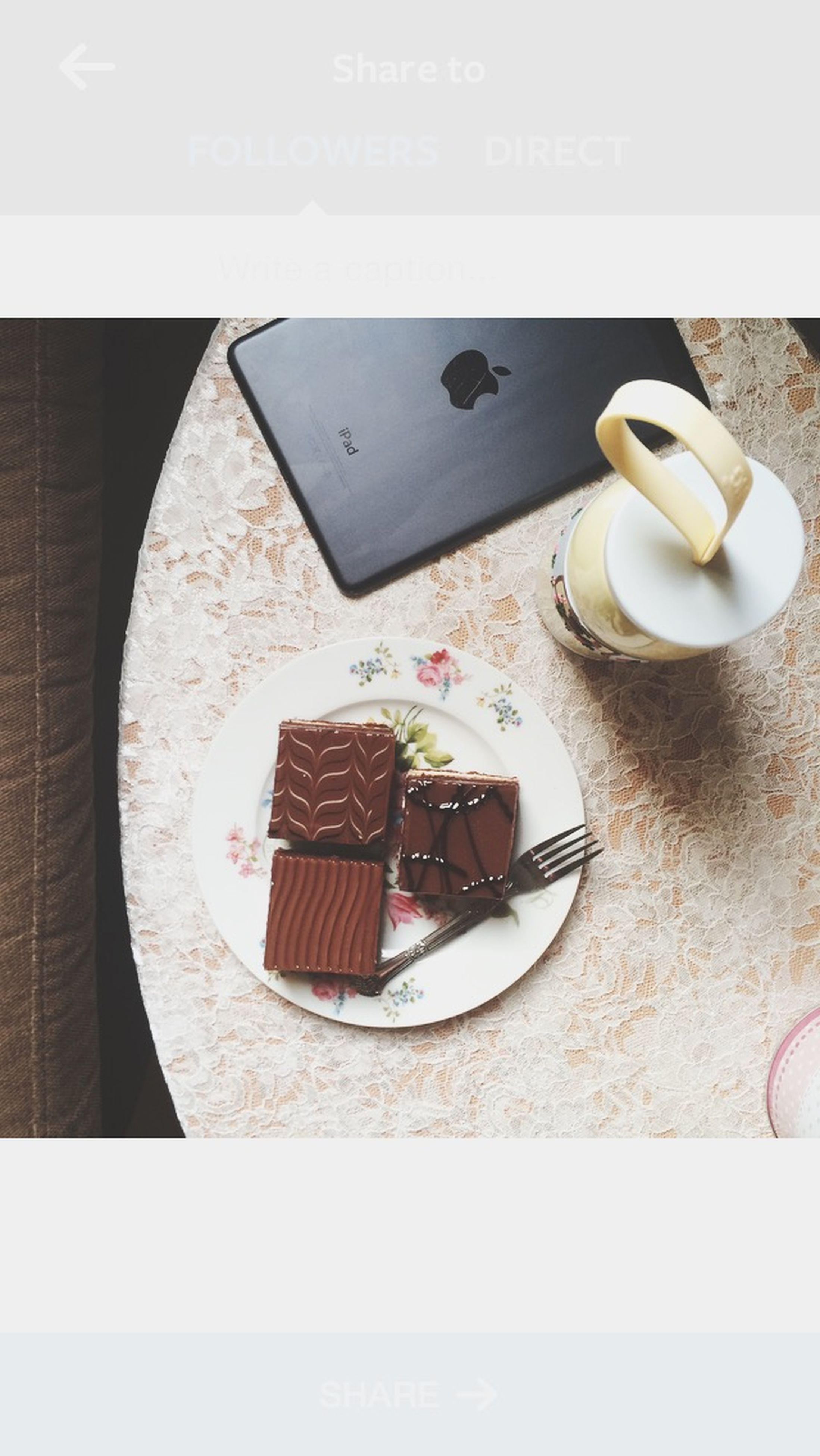 indoors, table, food and drink, transfer print, still life, high angle view, close-up, auto post production filter, communication, coffee cup, sweet food, coffee - drink, drink, freshness, refreshment, food, plate, technology, dessert, no people