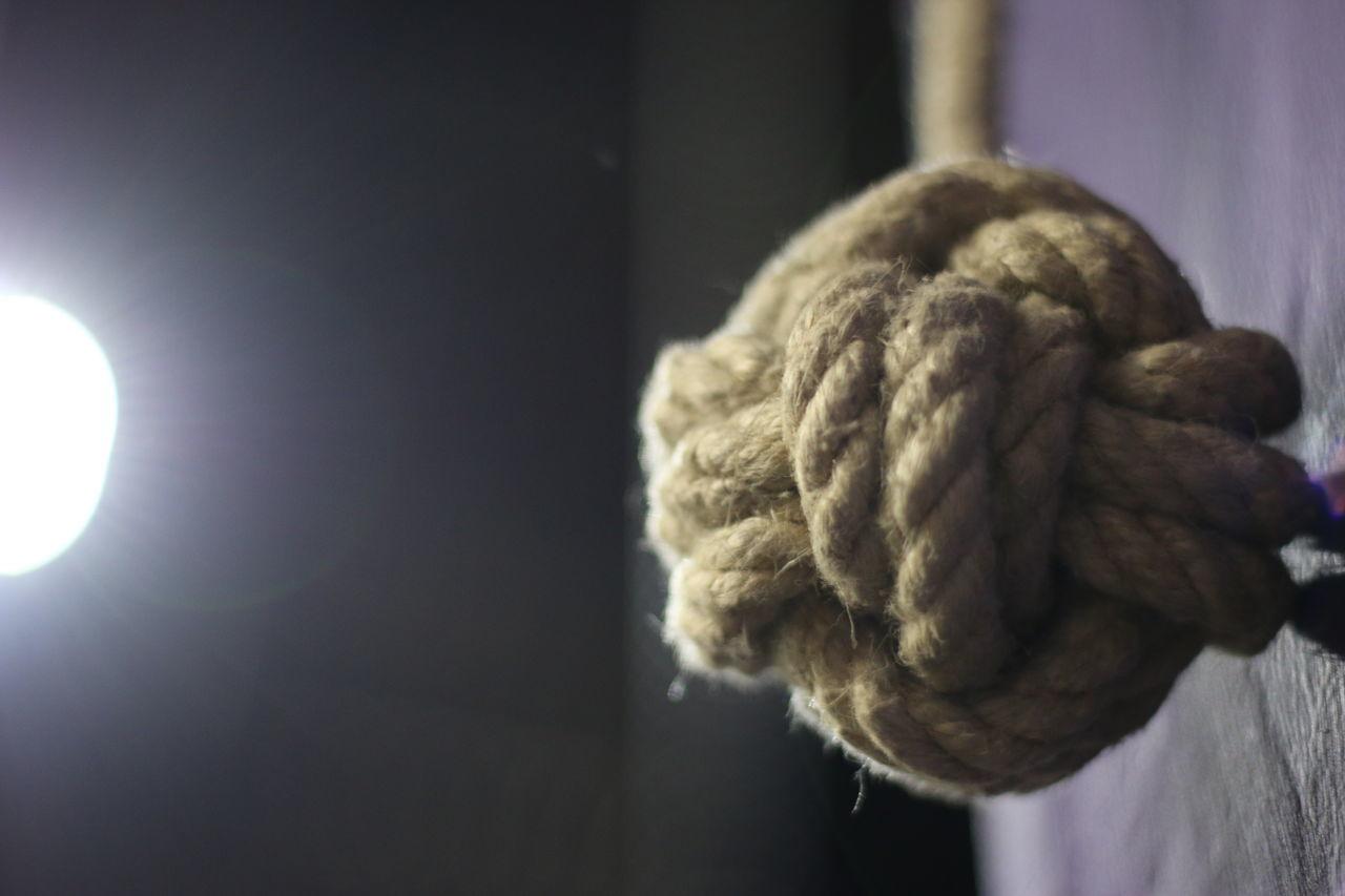 Colour High Knot Light Monkeys Fist Knot Purple Rigging Wall