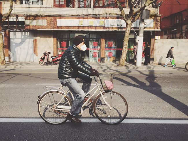 Bicycle 😷 Streetphotography Streetphoto_color Shanghai