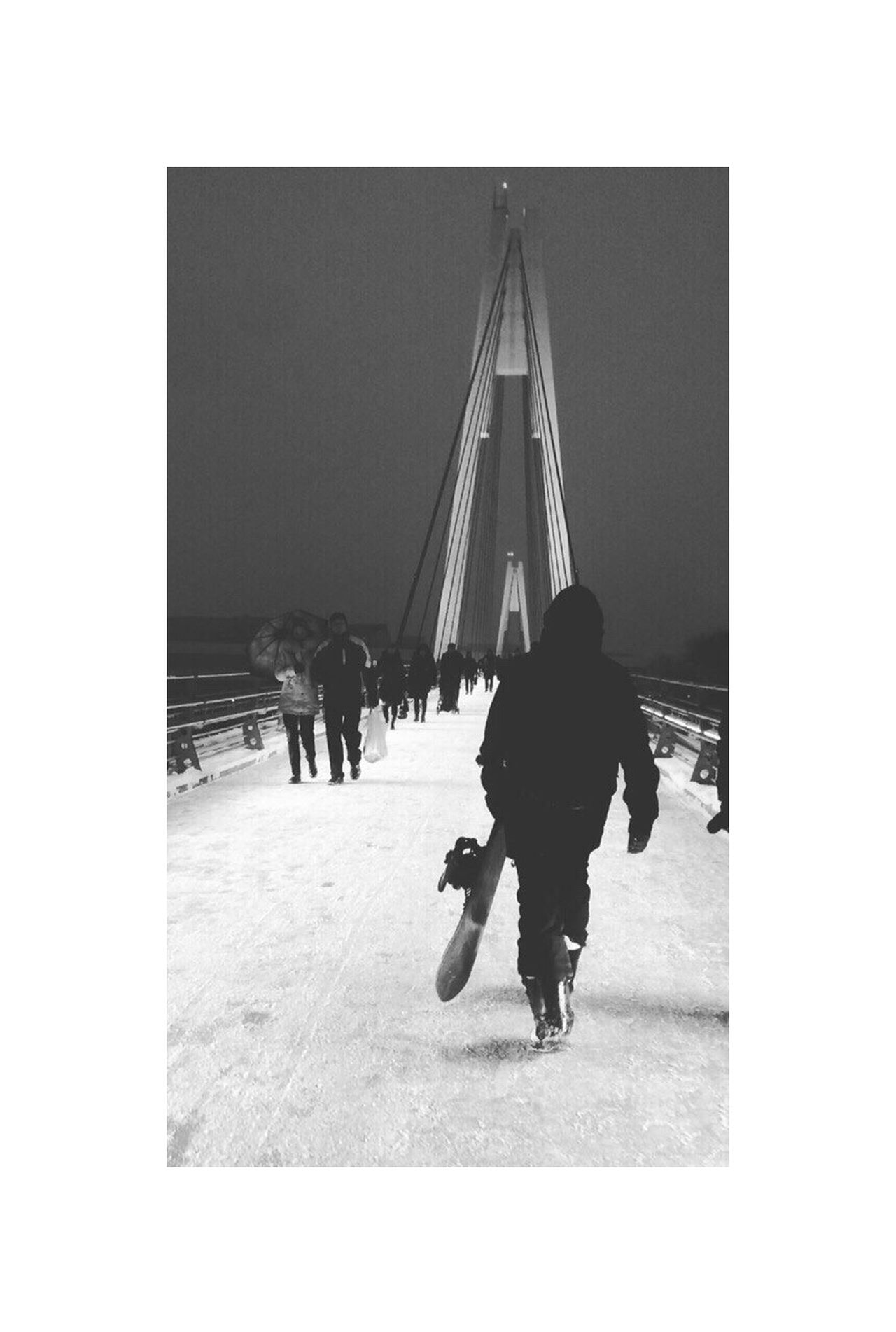Real People Full Length Walking Men Day Architecture People Mystyle Street Blackandwhite Snow Snowboarding Moscow Russia
