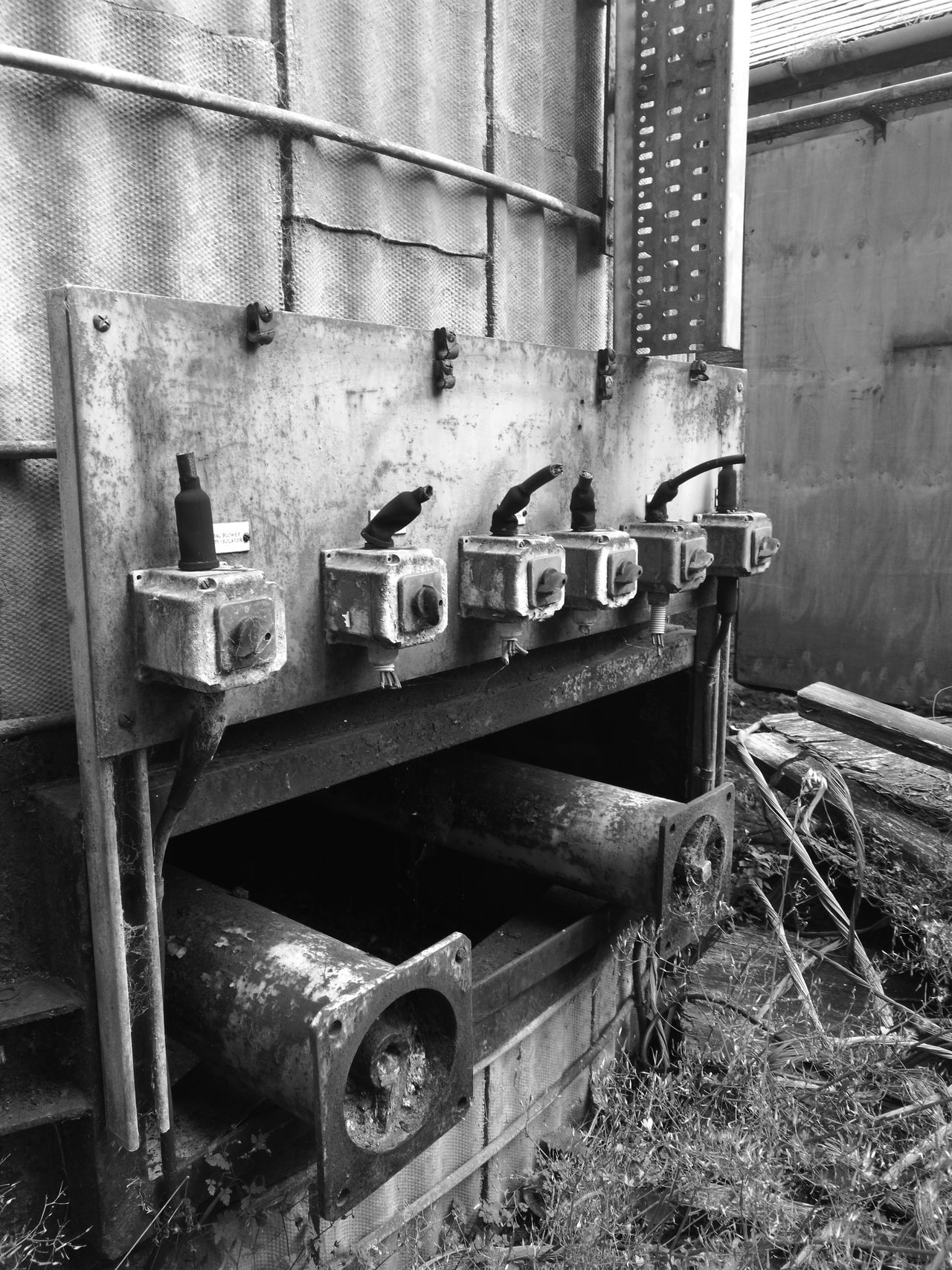 Old switches with wires cut Old Deterioration No People The Past Damaged Abandoned Switches Coalpower Monochrome Photography