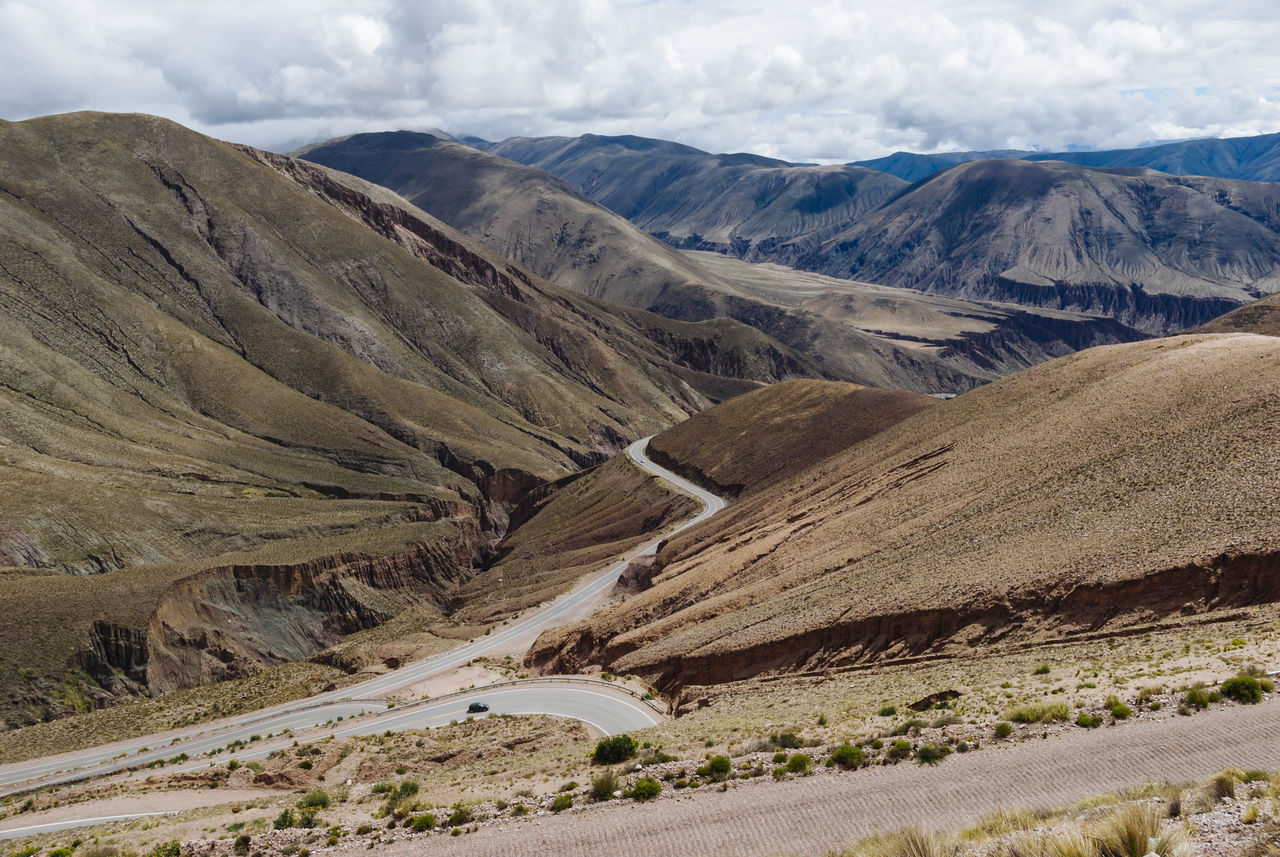 Argentina Cloud - Sky Dramatic Landscape Extreme Terrain Jujuy Province Landscape Majestic Mountain Non-urban Scene Outdoors Road Scenics Tranquil Scene Tranquility Travel Travel Destinations