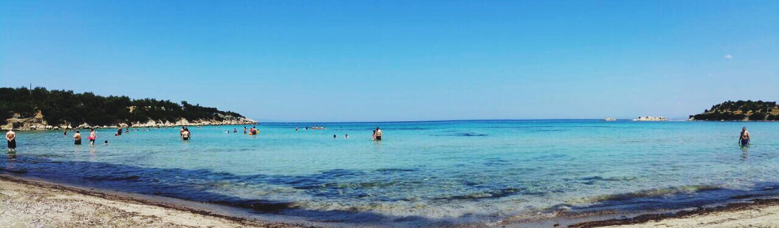 Water Sea Blue Beach Vacations Large Group Of People Beauty In Nature Sky Nature Scenics Outdoors Summer Day Clear Sky Real People Swimming Pool Men Horizon Over Water Tree Swimming