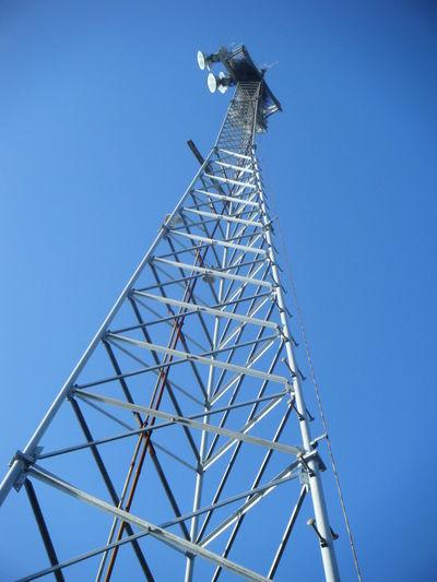 Football Field Grey Lights Metal Sky Tower