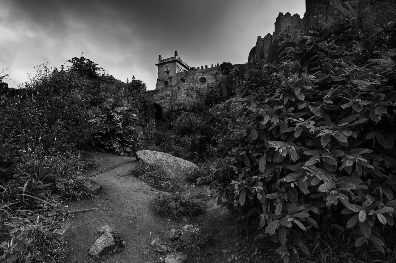 Architecture Art Artistic Blackandwhite Building Exterior Built Structure Day Golconda_fort Hyderabad India Indian Culture  Nature No People Outdoors Plant Sky Tourism Tree Water