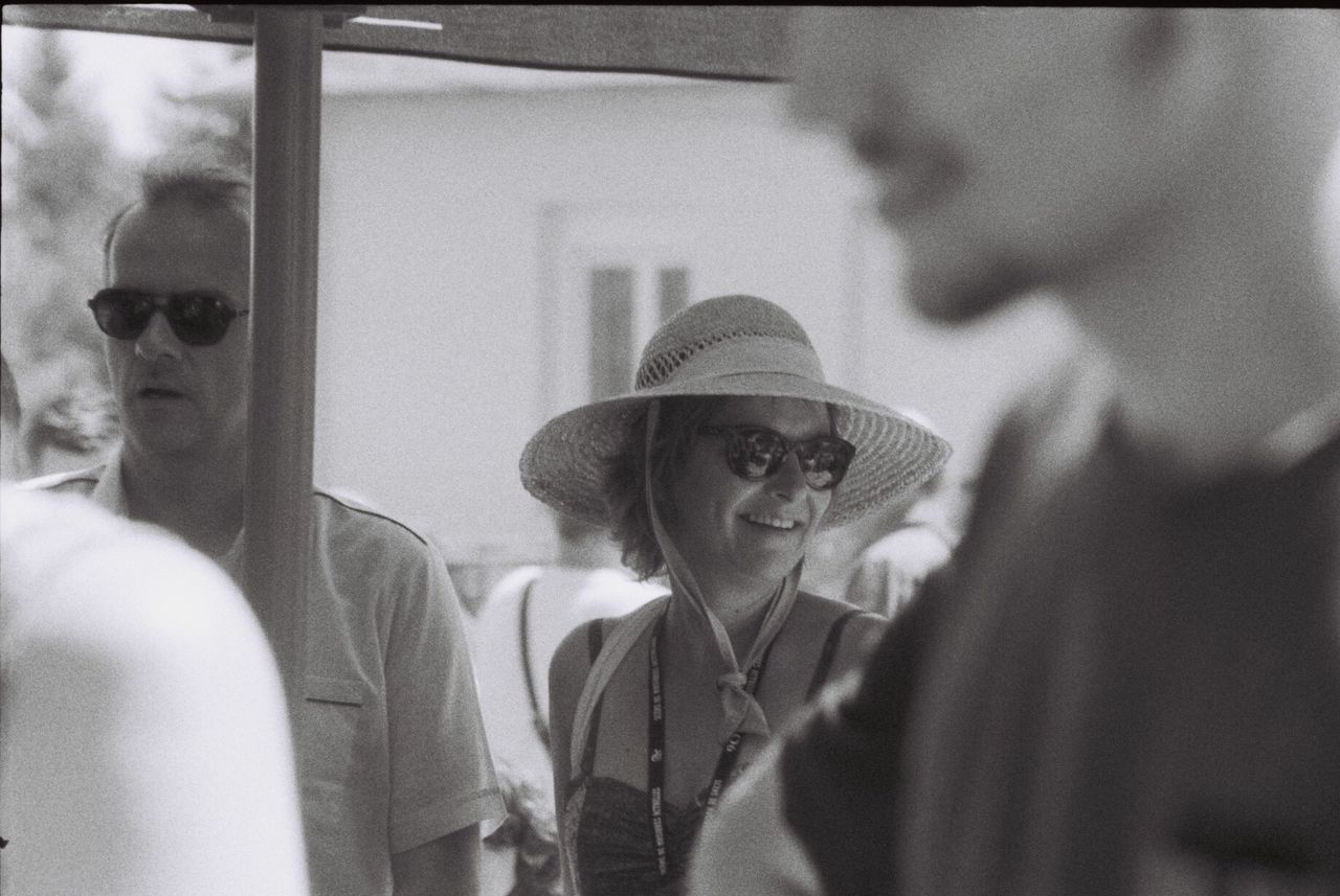 Analogue Photography Analog Camera Blackandwhite Argentique Real People Hat Lifestyles Women Festival Sunny Day Film