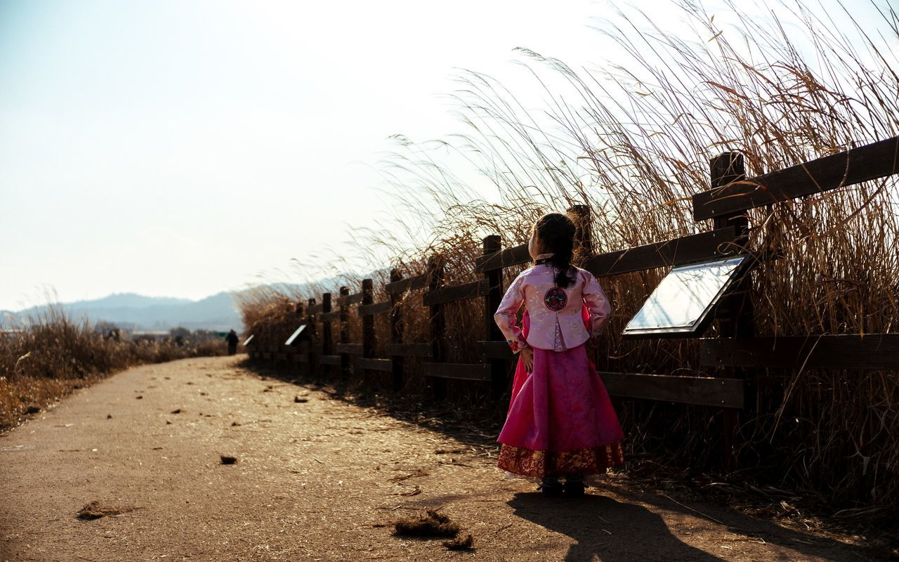Korea Junam Reservoir 주남저수지 조카 한복 Korea Traditional Dress Hanbok