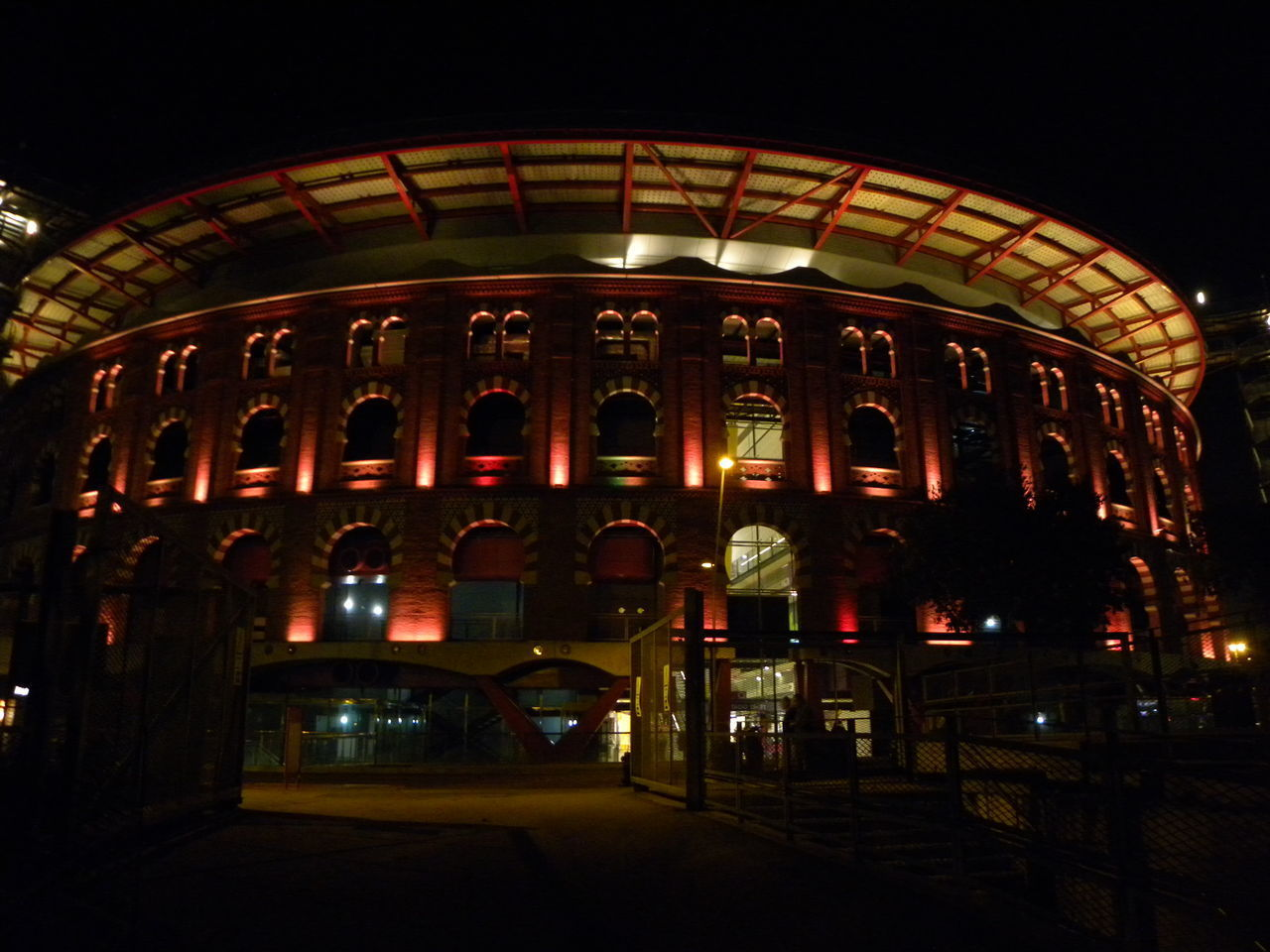 Architecture Arts Culture And Entertainment Barcelona Streets City Illuminated Night Plaza De Toros Plaza España