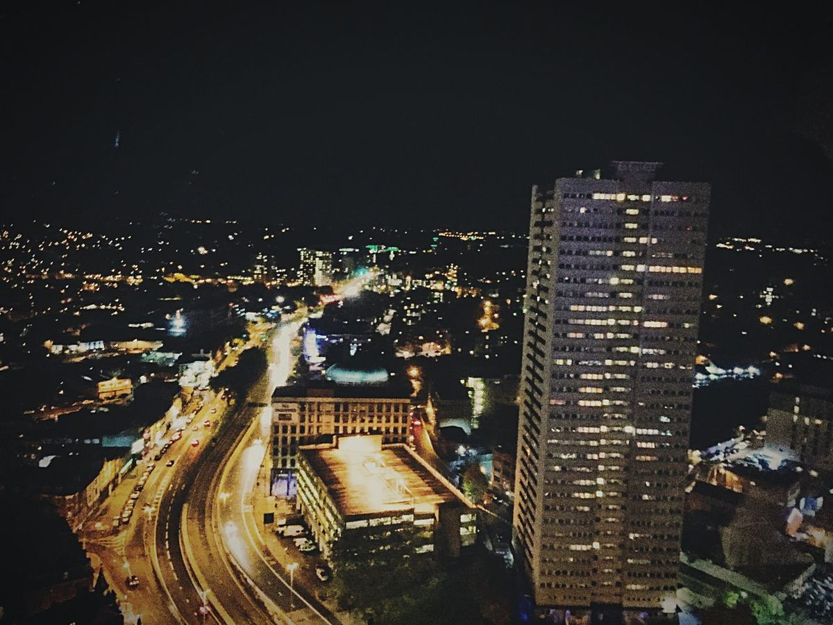 New street.. 25th floor Night View Night Lights NewStreet IPhoneography Onyefoto Nightshot