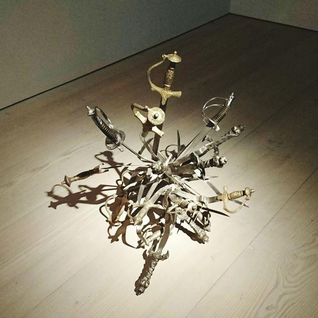 Mahmoud Obaidi Sculpture Iraq Social Commentary Swords Indoors  No People Saatchi Gallery