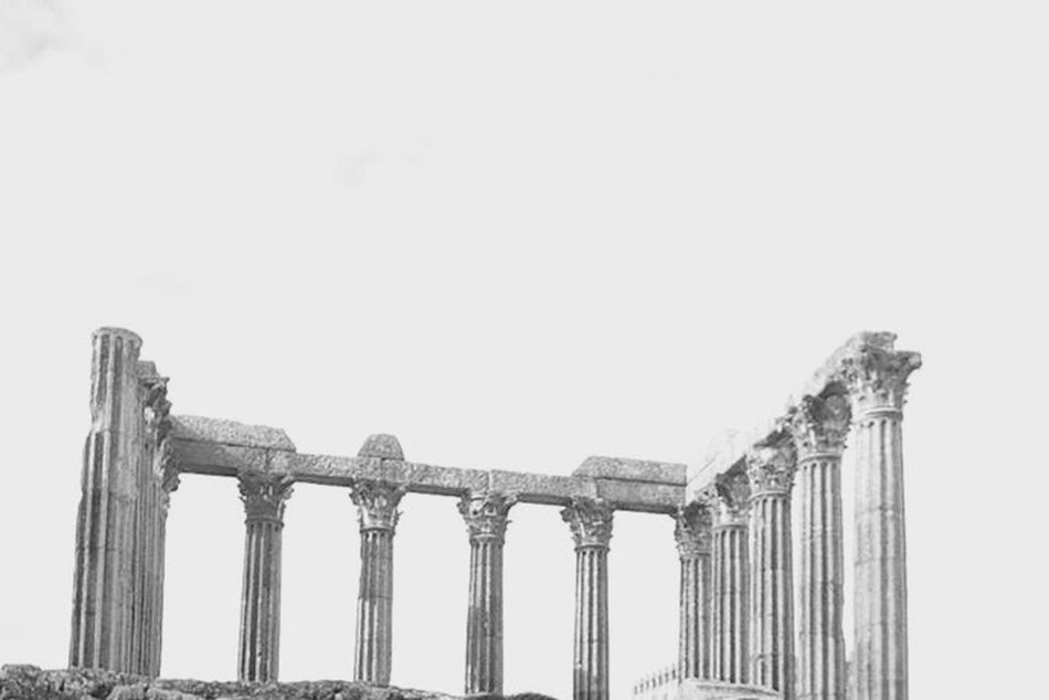 Évora  Portugal Diana Temple Roman Blackandwhite
