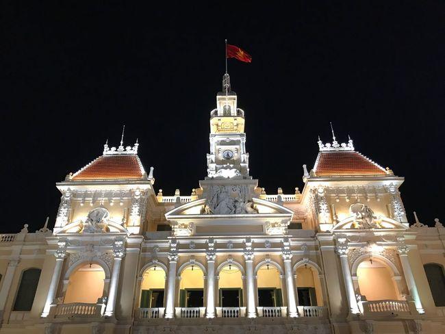 Oksk Photopackers Vietnam Vungtau Vietnam Hochiminh Cityhall Night Illuminated