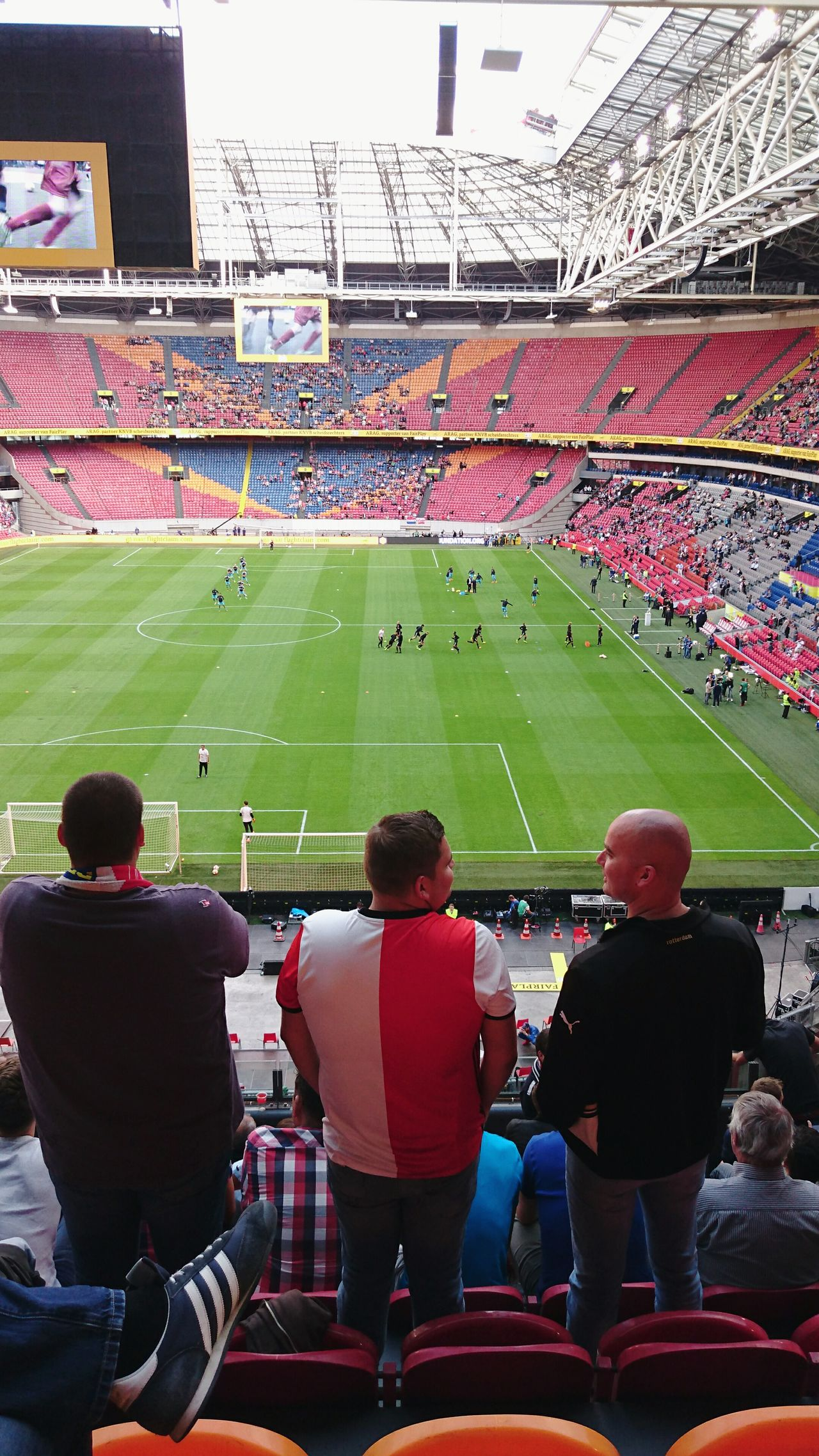 People Together Feyenoord Rotterdam, Winner of the Dutch FA Cup Feyenoord Supporters Waiting Before The Game Charity Shield Johan Cruyff against Psv , Champion Amsterdam Arena Netherlands (c) 2016 Shangita Bose All Rights Reserved People Photography Color Of Life A Bird's Eye View The Color Of Sport Green Snap A Stranger
