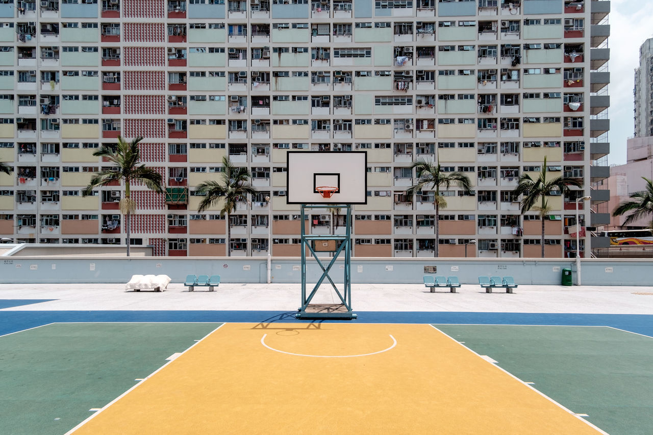 Choi Hung Estate Estate Architecture Symmetry Symmetrical Hong Kong ASIA Basketball Hoop Basketball Court