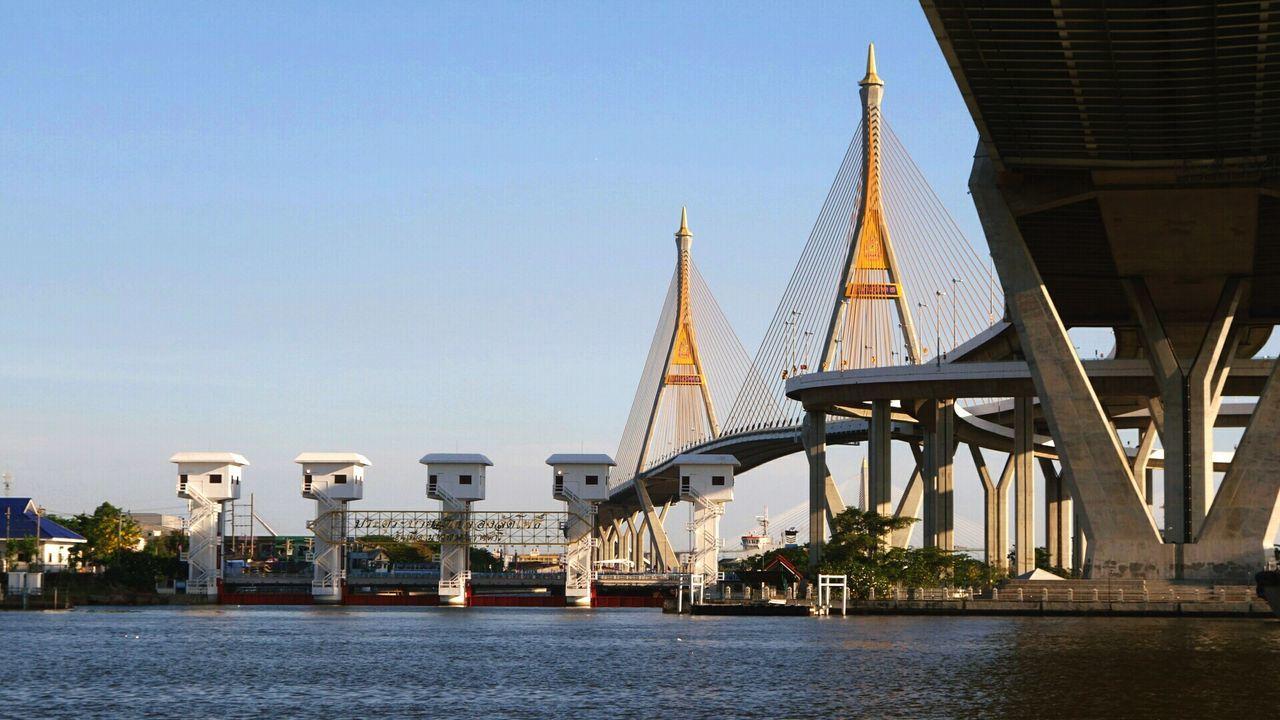 Beautiful stock photos of thai, Architecture, Bhumibol Bridge, Bridge - Man Made Structure, Built Structure