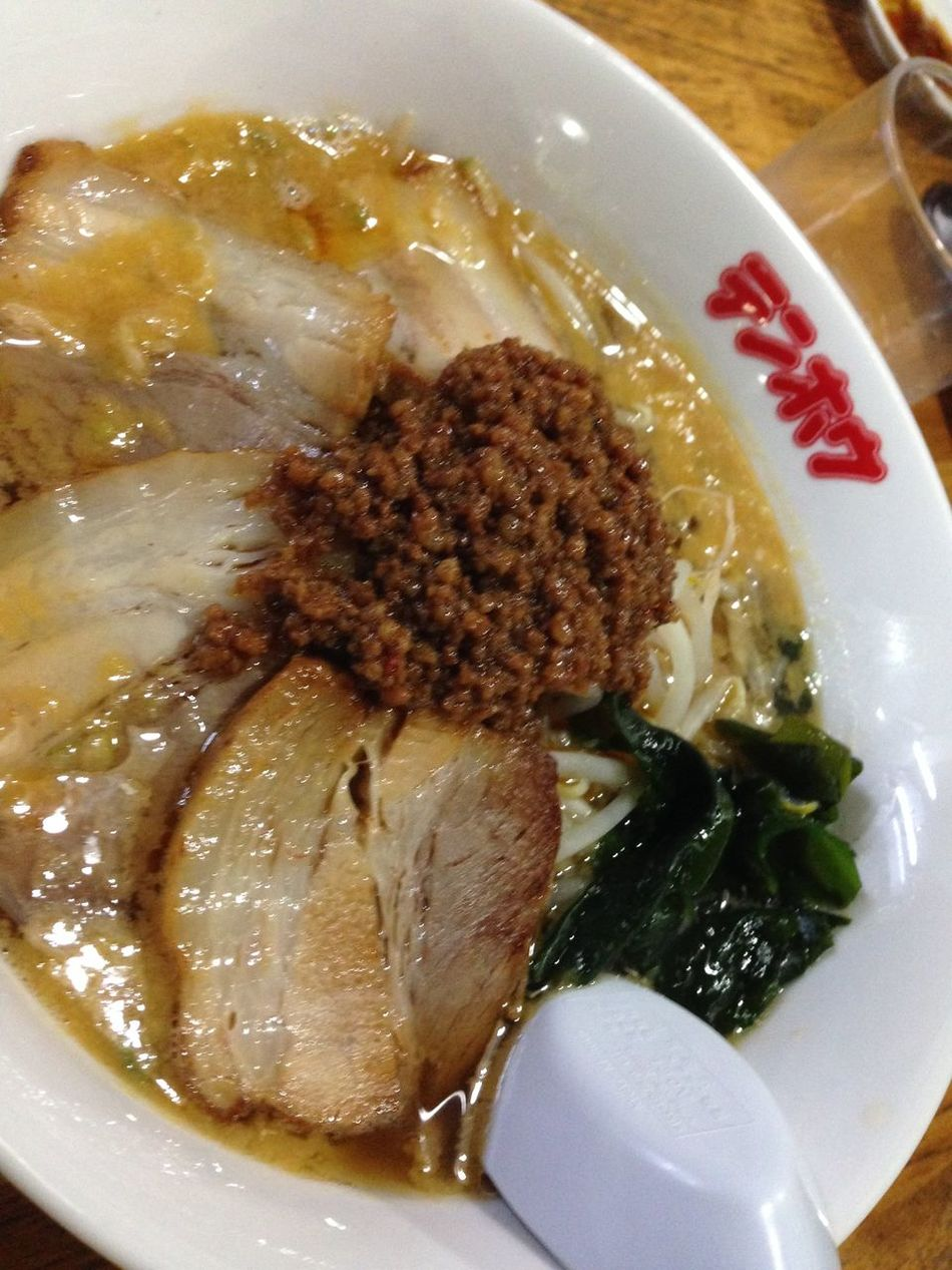 Close-up Food Indulgence Lamb - Meat Nudle Ramen Ready-to-eat Tantanmen Tenhou Unhealthy Eating