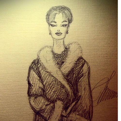 Иллюстрация номер 8.Что не успела...Лицо ближе;)рисунок рисую иллюстрация мода рисуноккарандашом черно-белое зарисовка набросок скейтч карандаш art myart myartwork drawing pencil sketch sketchaday instagramart illustration