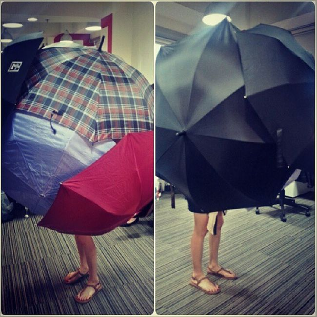 Crazy umbrella lady Hahahaha Redfuse antics