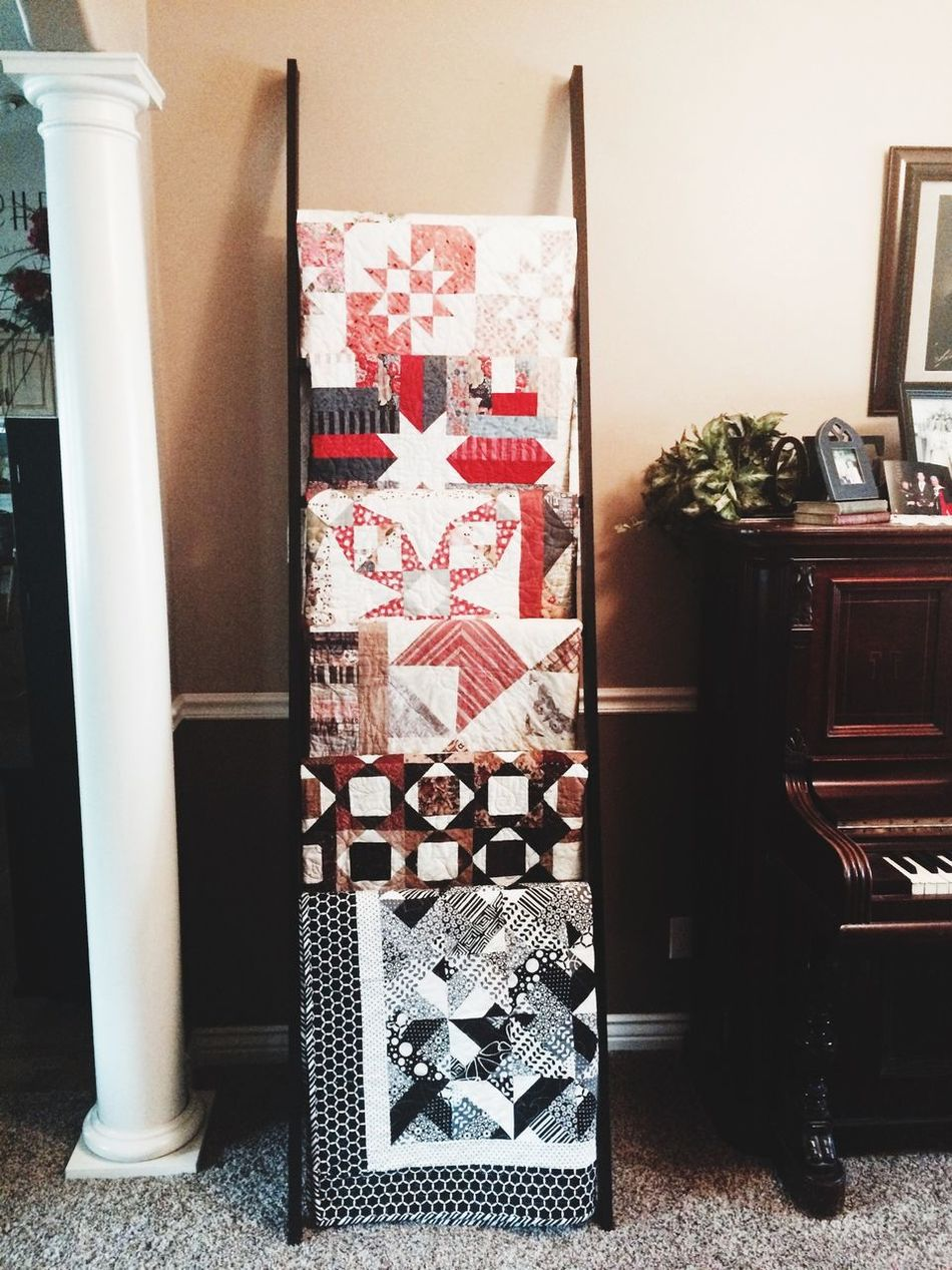 New Quilt Ladder My Husband Made To Hold Some Of My Many Quilts