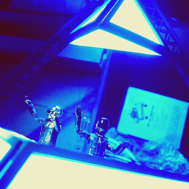 ...creating something My Hobby Daftpunk  SHfiguarts Maket The Pyramid Stage Photography Toy Photography Fantastic Exhibition Blue Diorama
