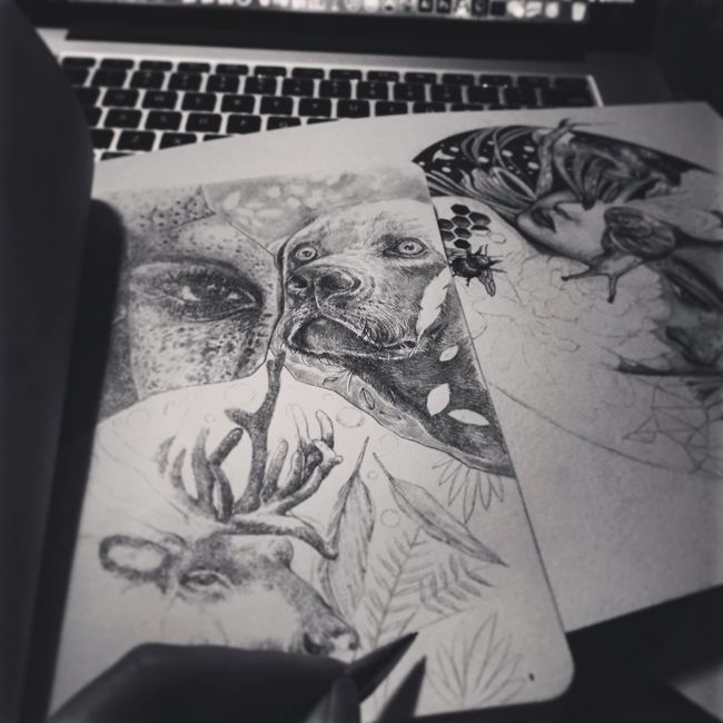 Taste of black and white Self Portrait Drawing ✏ ArtWork GraphitePencil Pencil Drawing Original Art Pencilart Blackandwhite