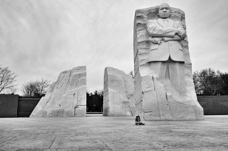 Dreaming DC MLK Memorial Pitbull Ihaveadream Blackandwhite Monochrome