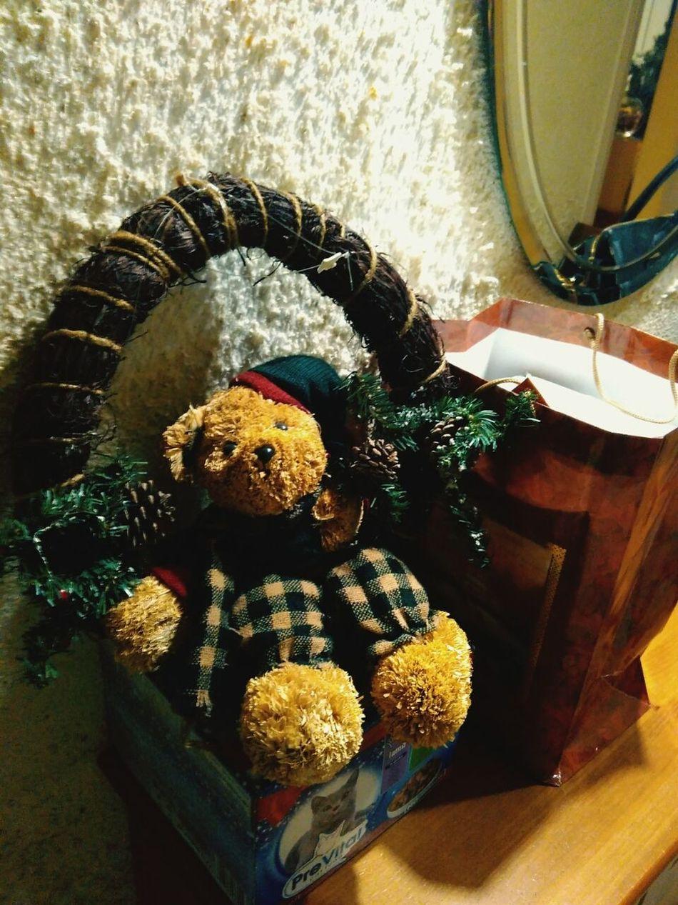 Christmas Preparations Merry Christmas Christmas Decorations Indoors  Indoors  Christmas Ornament Teddy Bear 🐻 Teddy Teddybear Bear Missyou