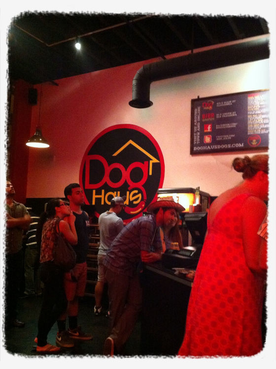 Hot dogs at Dog Haus by Noah
