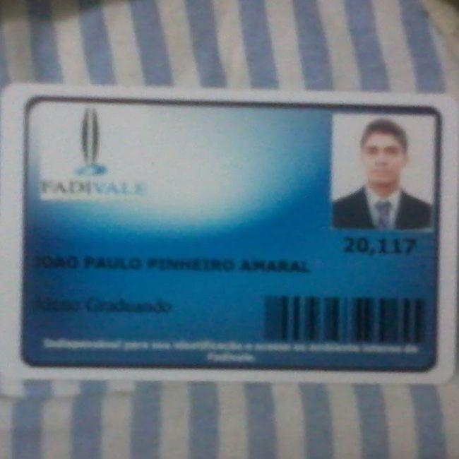 Carteirinha Facul -Fadivale Ftinha Pegada Advogado Delegado Promotor Juiz ...