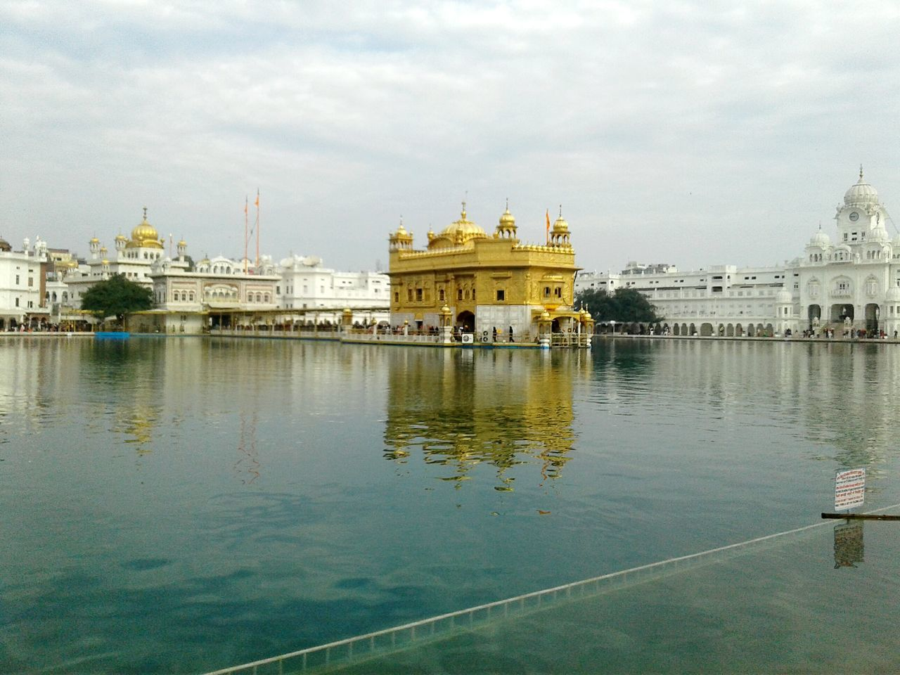 Gold Architecture Sky Cloud - Sky Built Structure Water Day Outdoors Travel Destinations Building Exterior Golden Temple India Punjab