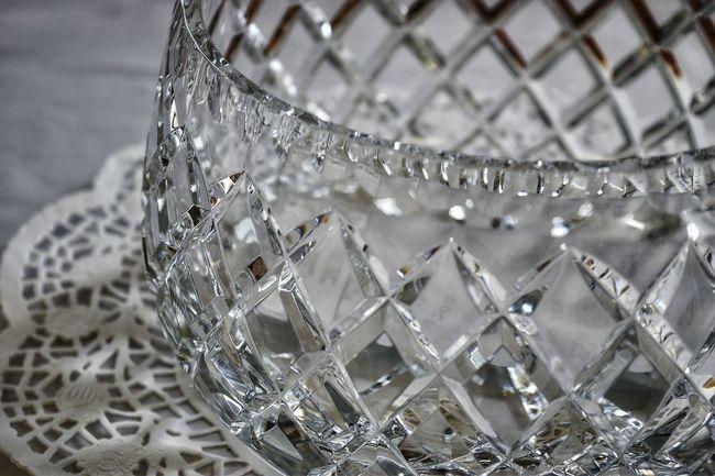 Glass Crystal Bowl Glass Bowl Etched Glass Pattern Doily Fancy