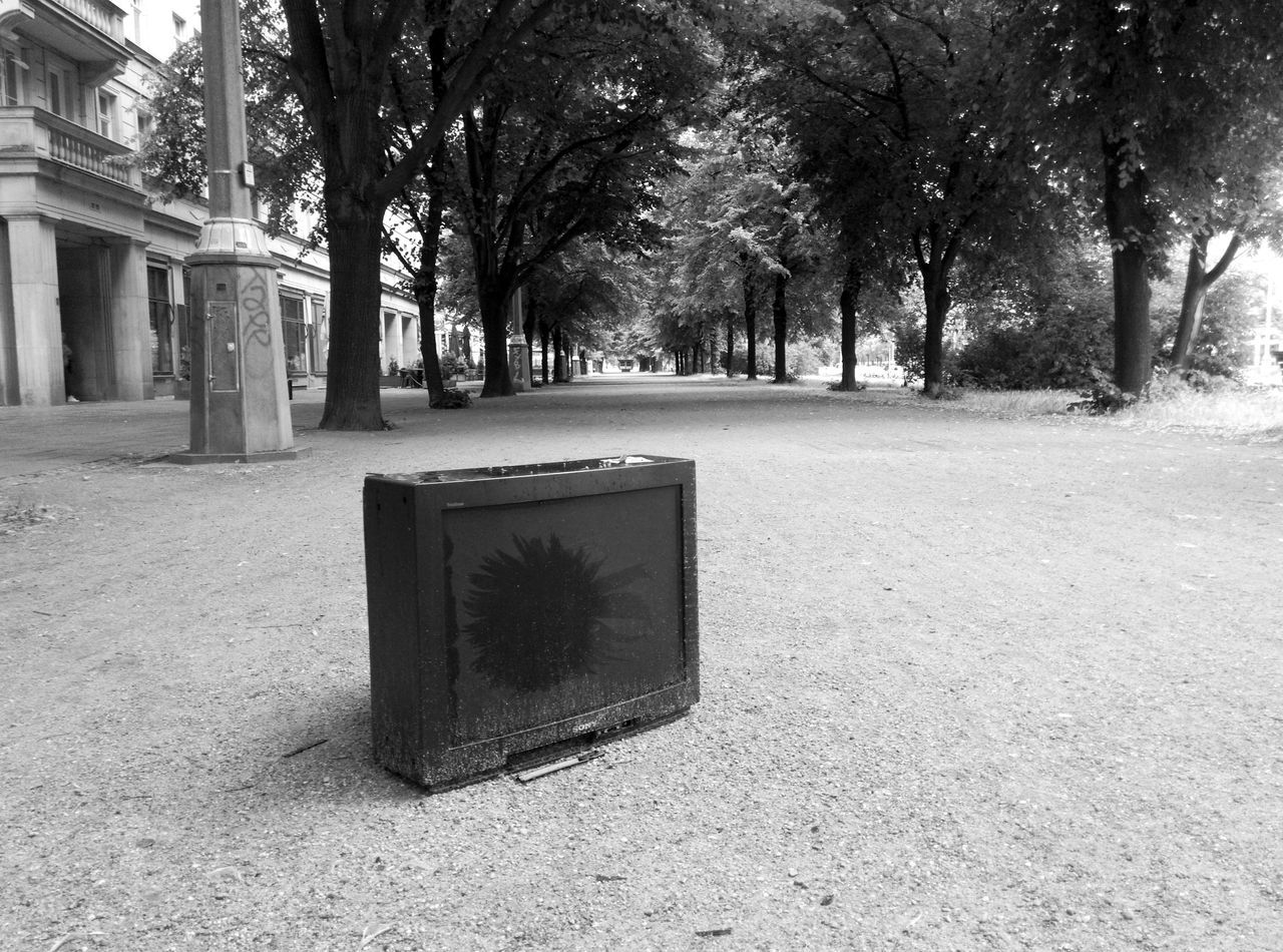 Abandoned Television Set On Street
