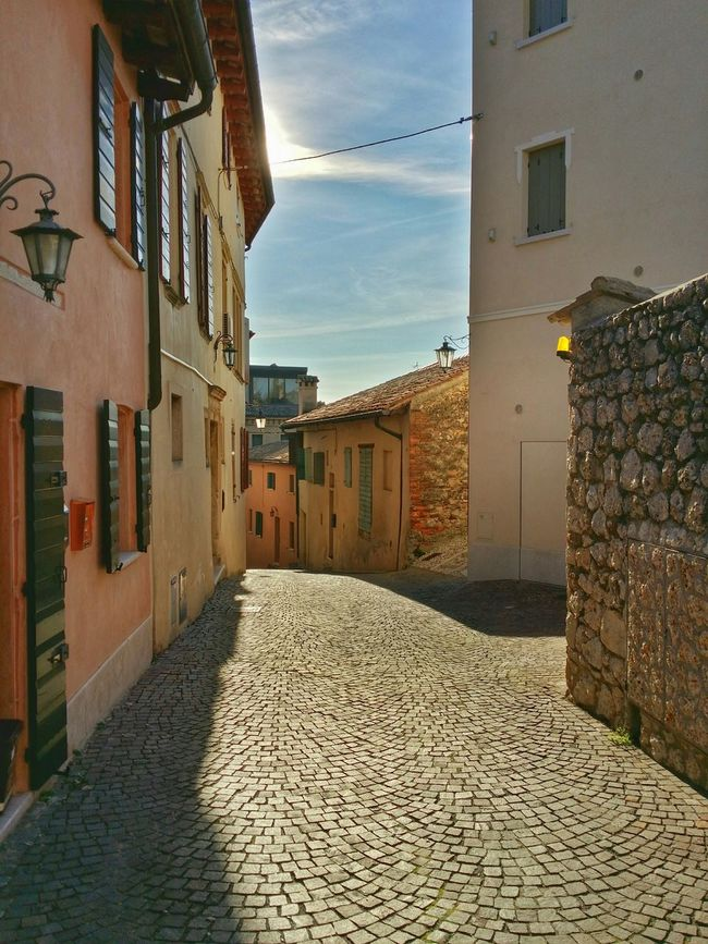 Asolo, Italy Showcase: December Backlight Historical Buildings Mixed Textures Long Shadows