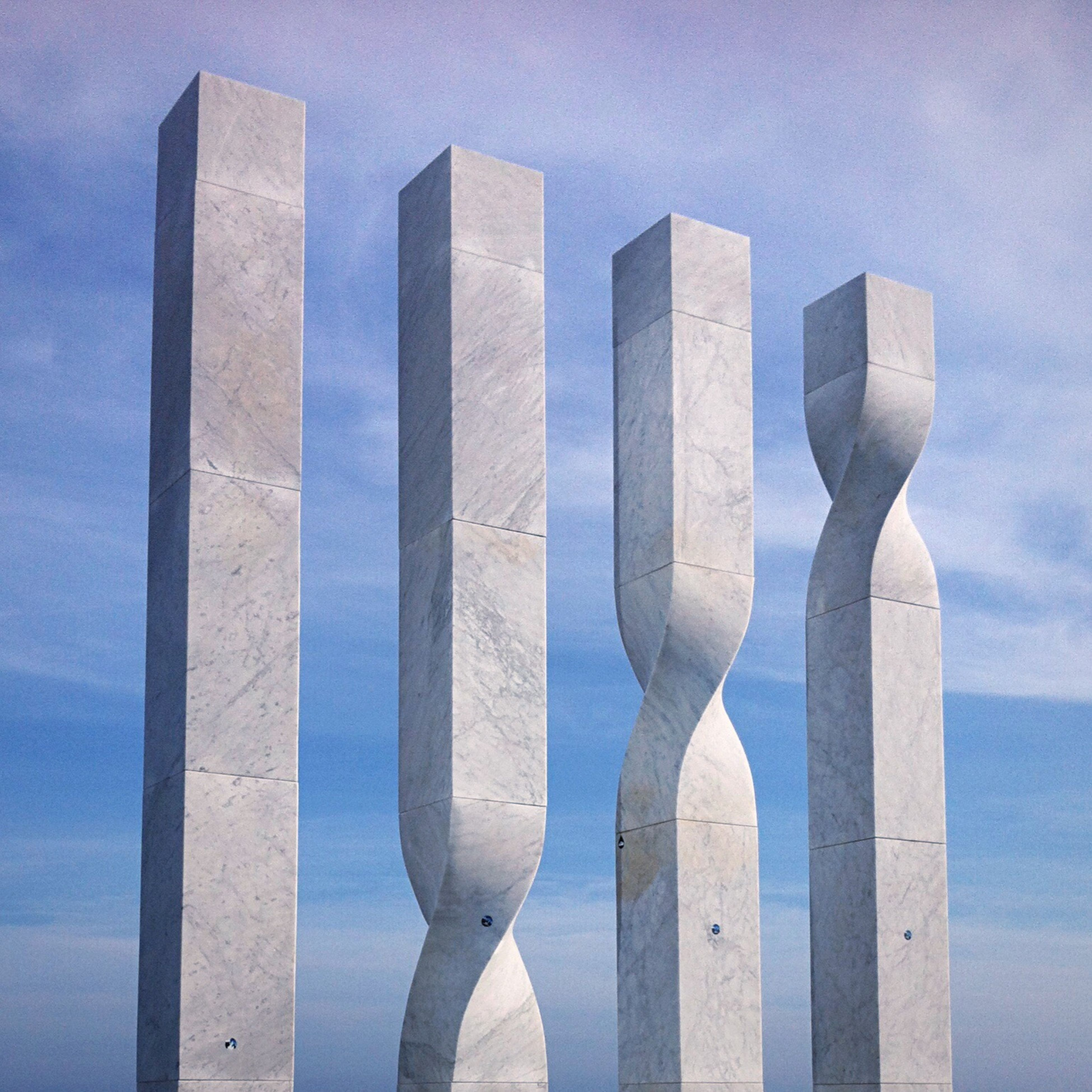 The Four Bars - Les Quatre Barres Sculpture by Ricardo Bofill a Marble representation of the Catalan flag (The Bars of Aragon) Beautiful Barcelona Barcelona, Spain Outdoors Sky Day Tourist Attraction  Daytime Modern Art Art Stone Sections Section Stack Stacked Geometric Shape Geometry Geometric Shapes Lines Lines, Shapes And Curves Break The Mold