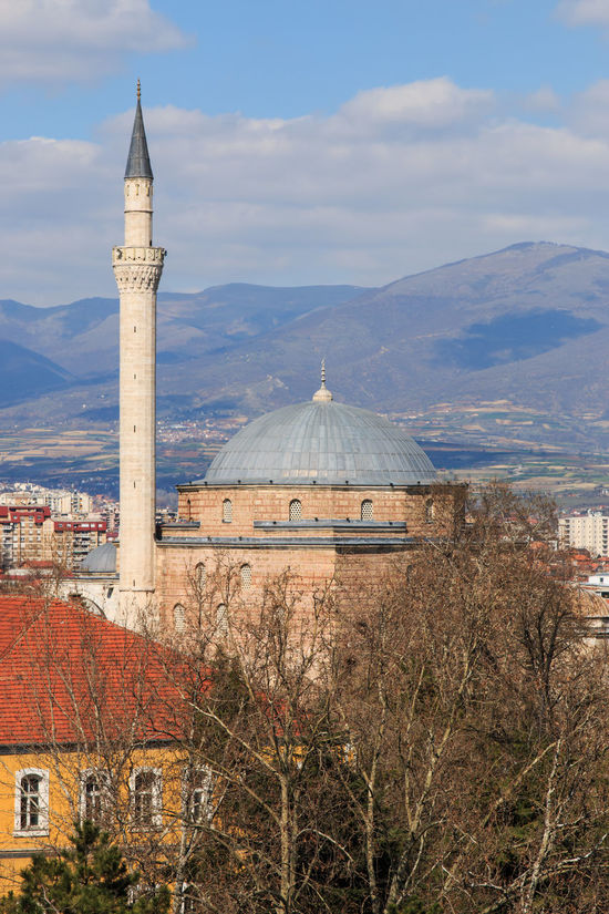 Mustafa Pasha mosque, Skopje Macedonia Architecture Balkans Building Exterior Built Structure Day East Europe Famous Place Growth History International Landmark Macedonia Mountain Mountain Range No People Outdoors Place Of Worship Red Scenics Skopje Sky Steeple Tall - High Tourism Tower Travel Destinations