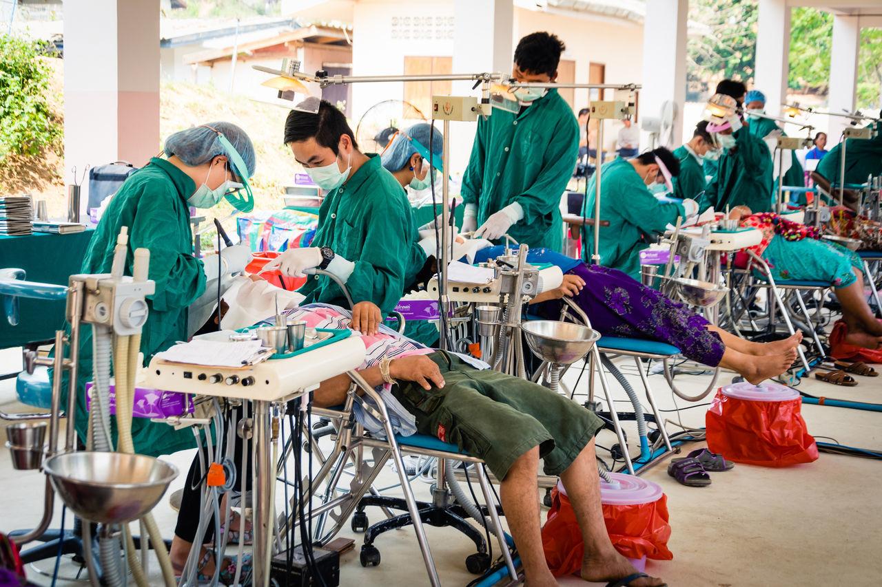 Beautiful stock photos of medizin, preparation, standing, people, community