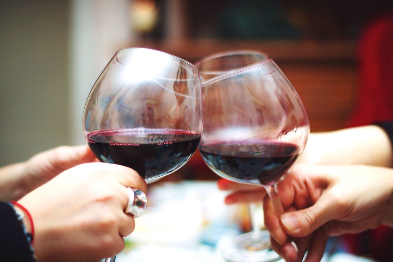 Wine Moments Human Hand Wineglass Wine Celebration Two People Drink Real People Alcohol Close-up Food And Drink Togetherness Holding Indoors  Drinking Glass Lifestyles Refreshment Women Human Body Part Red Wine