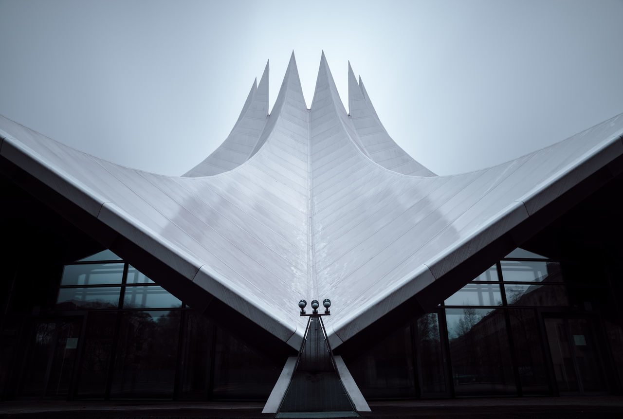 Longexposure of the Tempodrom in Berlin, Germany Architecture Berlin Berlin City Berlin Photography Berlinstagram Built Structure Capital Cities  Copy Space Day Fine Art International Landmark Long Exposure Modern No People Nobody Outdoors Philipp Dase Rainy Day Roof Sightseeing Sky Tempodrom Triangle Shape Urban Icon Wet