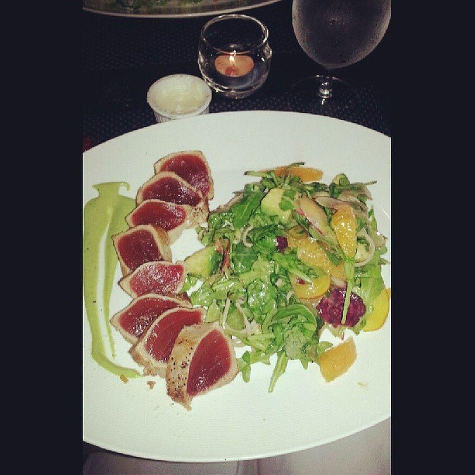 Longisland Seared Tuna Avocado salad yummy foodporn delicious cleanedtheplate