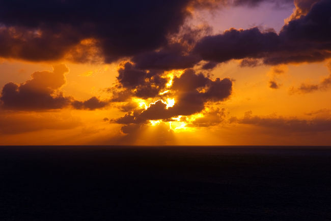 Atmosphere Atmospheric Mood Cloud Cloud - Sky Cloudscape Cloudy Dramatic Sky Light Majestic Moody Sky Orange Color Outdoors Overcast Silhouette Sky Storm Cloud Sunset Tranquil Scene Tranquility