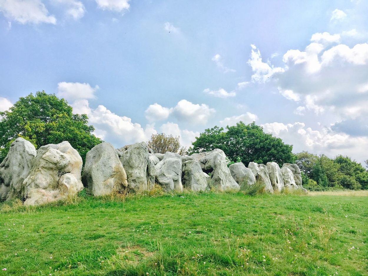 Stone Stone - Object Stone House Lübbensteine Stone Megaliths Stoneage Stone Age Grass Field Beauty In Nature Green Color Landscape Outdoors