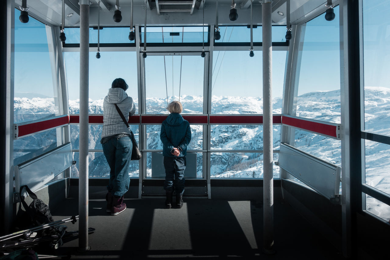 View.. Viewpoint View From Above View Mountain Panoramic Panorama Full Length Leisure Activity Lifestyles Looking At View Looking Through Window People Rear View Recreational Pursuit Two People Vacations Window Flying High
