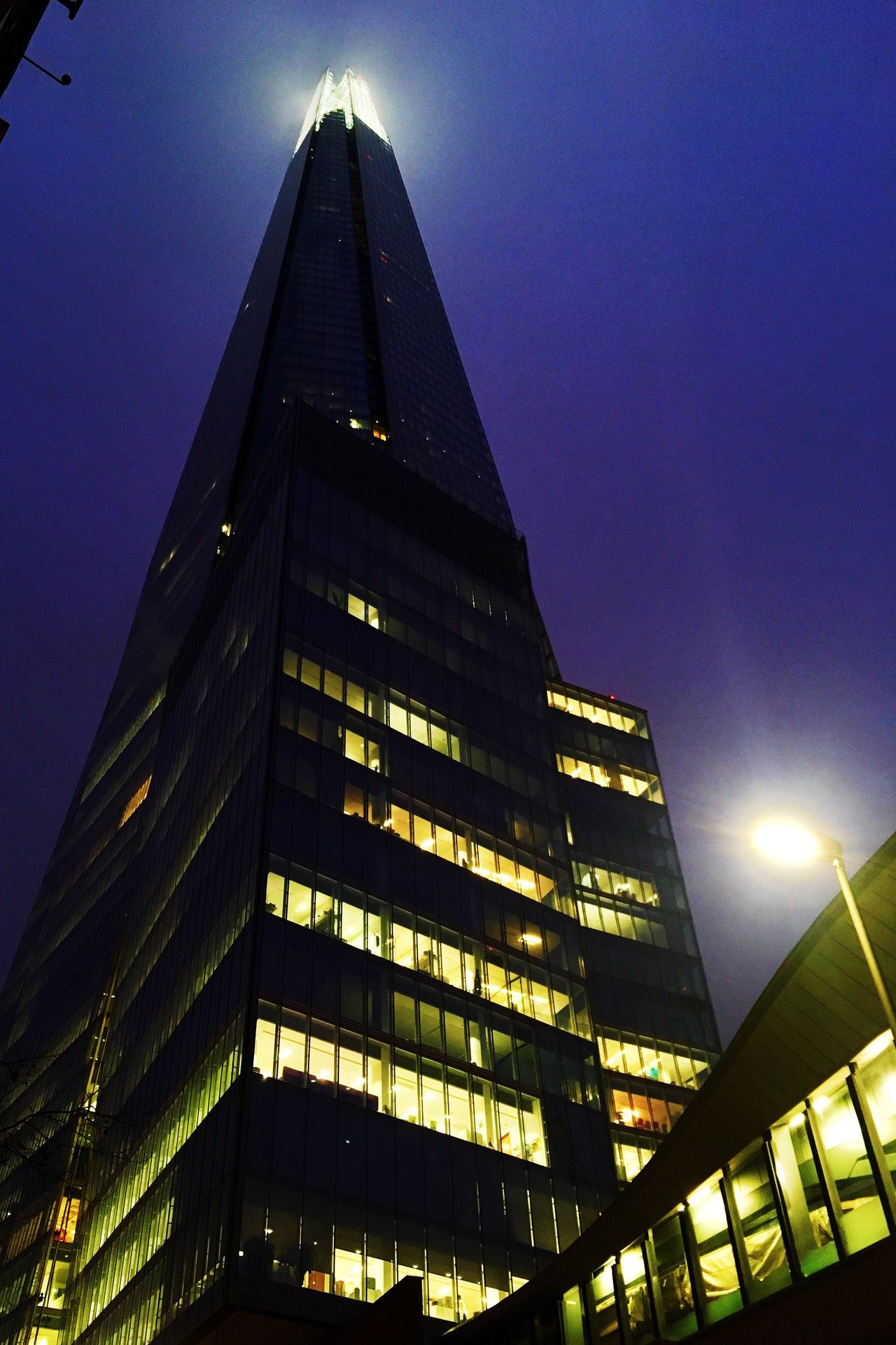 Architecture Building Exterior Built Structure Illuminated Low Angle View City Modern No People Night Sky Sunrise London Skyscraper Light Up Your Life Outdoors Office Block